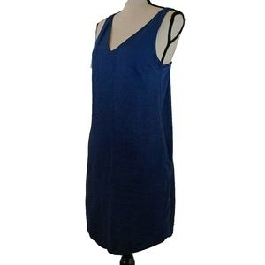 Zara Denim Couture Dress Small Blue Sleeveless